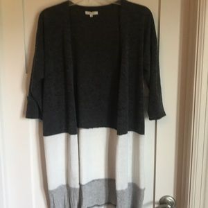 3/4 sleeve Tri-color light weight cardigan